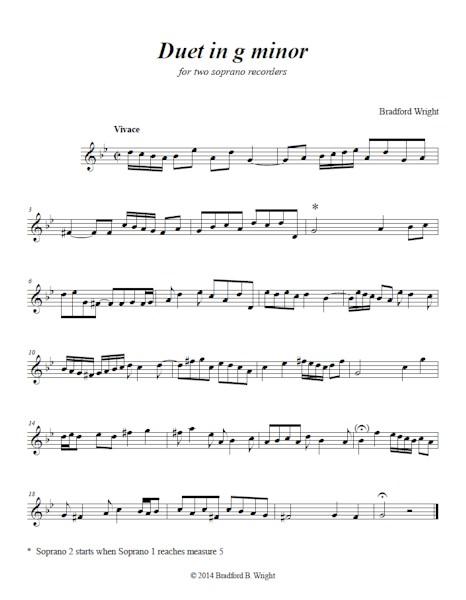 Duet in g minor