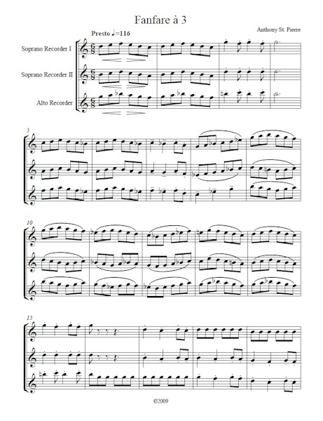 Fanfare a 3