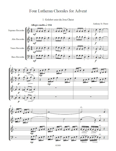 Four Lutheran Chorales for Advent