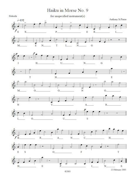 Haiku in Morse No. 9