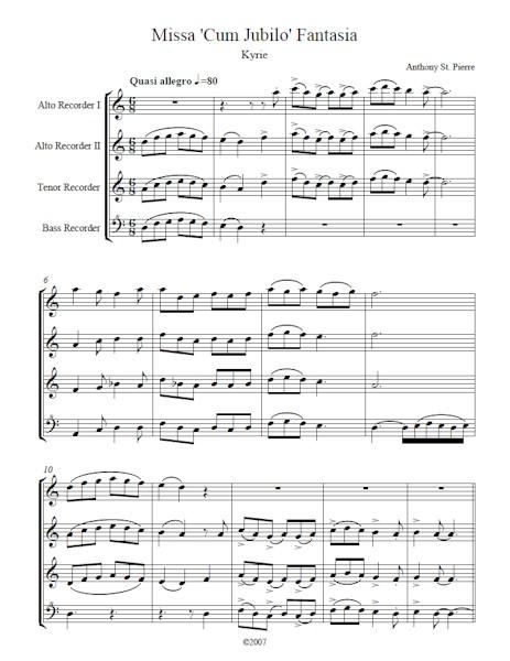 Missa Cum Jubilo Fantasia