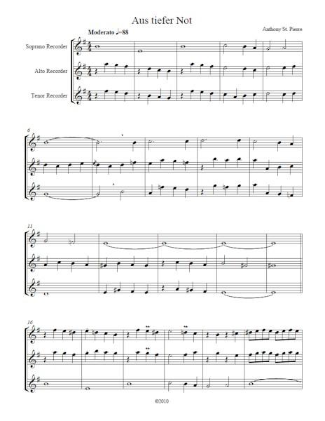Three Lenten Chorales