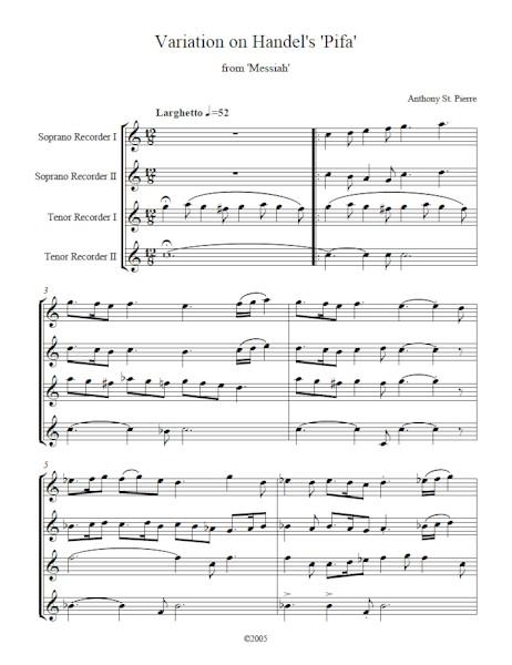 Variation on Handel's Pifa