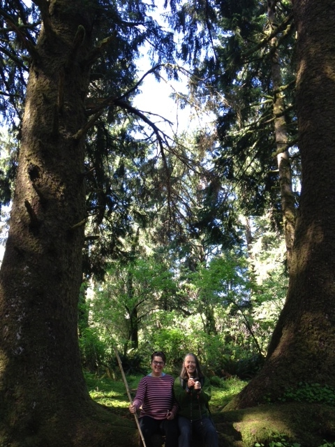Tish and Louise on Cascade Head Trail 4-23-13